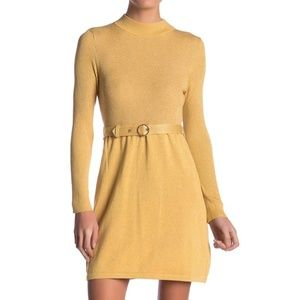 Free People French Girl Belted Sweater Knit Dress